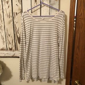 BP white with black stripes tunic